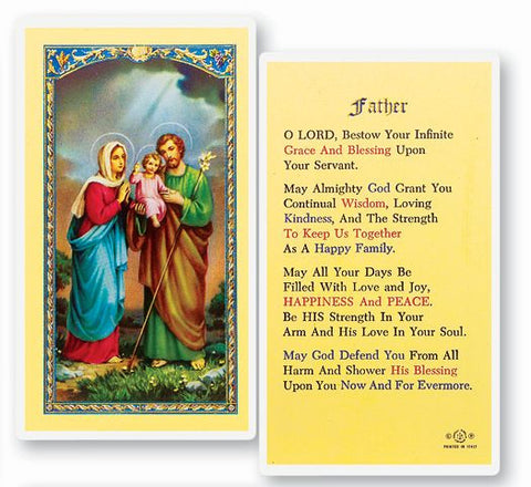 PRAYER FOR FATHER HOLY CARD