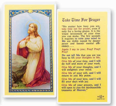 Take Time For Prayer Holy Card