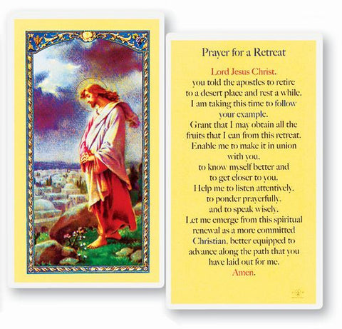 PRAYER FOR A RETREAT HOLY CARD