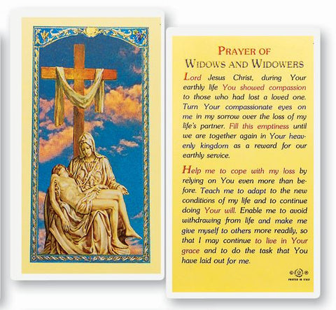 PRAYER OF WIDOWS & WIDOWERS HOLY CARD