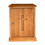 Plain Cross Wood Tabernacle - Medium Oak
