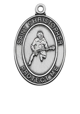 St. Christopher Sports Medal Boy Lacrosse