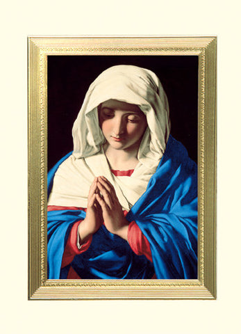 The Virgin In Prayer Spiritual Gift of Healing Mass Card MA 210