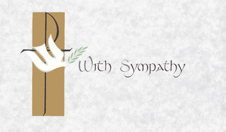 With Sympathy Mass Card