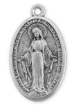 Miraculous Medal    Antique Silver Plated