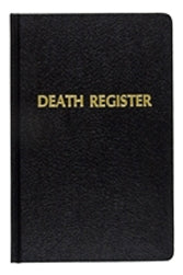 Death Register & Record Book Small