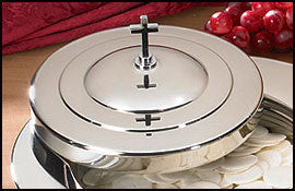 Stacking Bread Plate Cover - Silver Finish