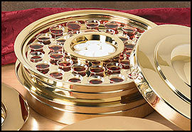 Stackable Communion Tray - Brass Finish