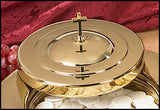 Stacking Bread Plate Cover - Brass Finish