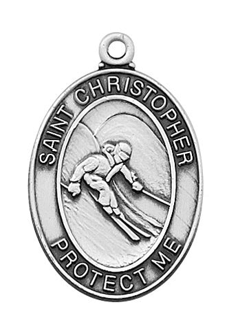 St. Christopher Sports Medal Boy Skiing