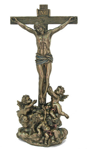 Crucifixion with Angels statue