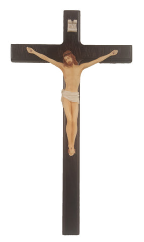 Crucifix With Hand Painted Corpus 10""