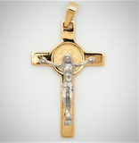 10k Two-tone Saint Benedict Crucifix