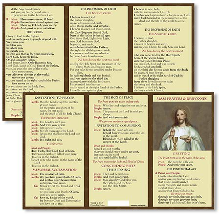 Mass Prayers and Responses - Card