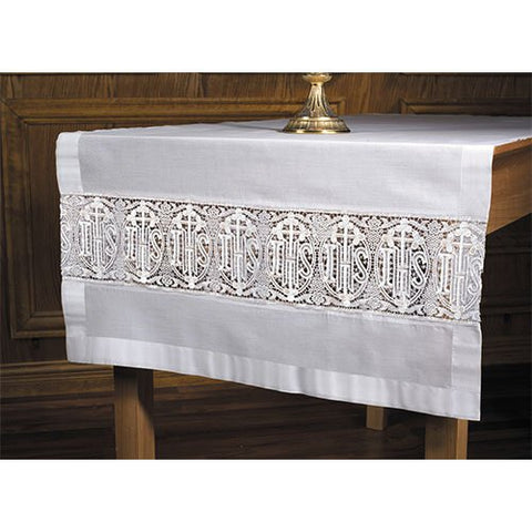 Altar Frontal Lace Latin Cross Altar Runner