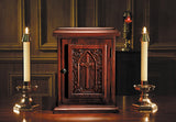 Wooden IHS Cross Tabernacle