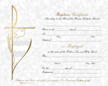 Baptism Certificate - Parchment Collection