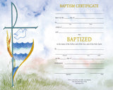 Watercolor Baptism Certificate
