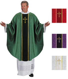 Monastic Jacquard Chasuble with Cross