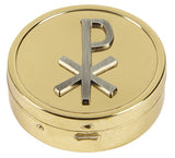 Pyx with Embossed Chi Rho