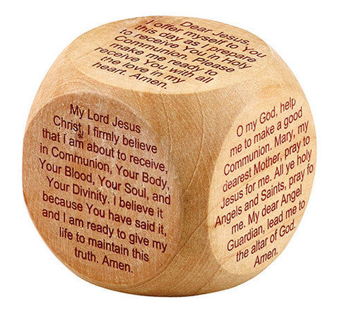 First Communion Prayer Cube