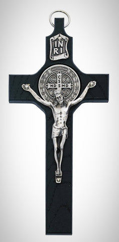 "6 1/4"" Black St Benedict Crucifix"