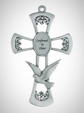 "6"" PEWTER CONFIRMATION CROSS"