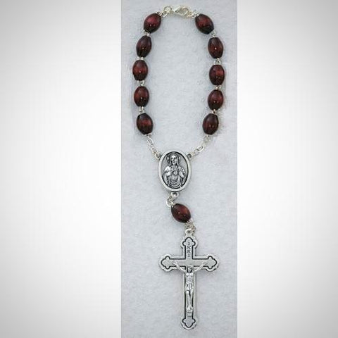 BROWN AUTO ROSARY/CARDED