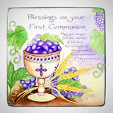 First Communion Metal Plaque