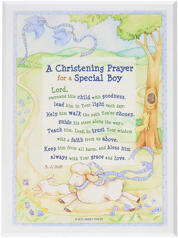Special Boy Christening Plaque