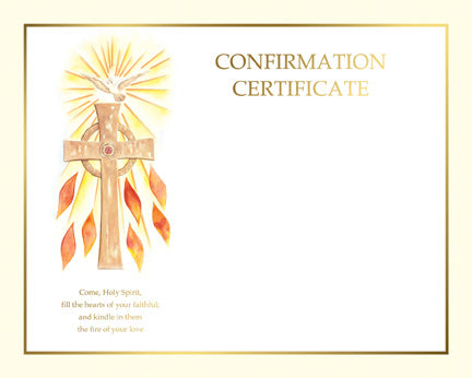 Confirmation Spiritual Collection  Create Your Own Certificate
