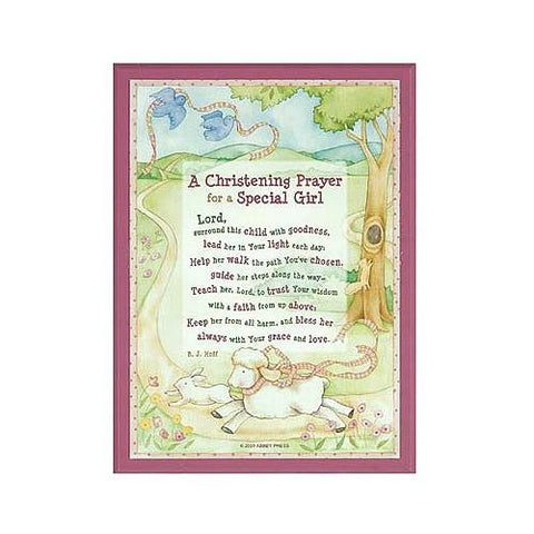 Christening Prayer for Special Girl Plaque