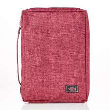 Bible Cover Fish Small Burgundy