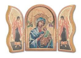 Our Lady of Perpetual Help Triptych 5""