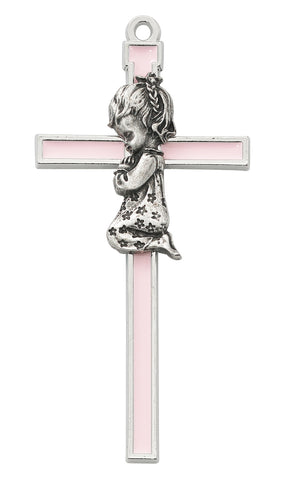 Pink/Silver Cross Girl