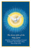 Confirmation Seven Gifts Collection Holy Card
