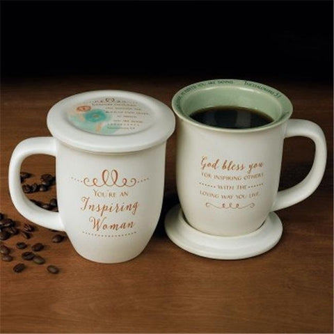 Inspiring Woman Mug & Coaster Set
