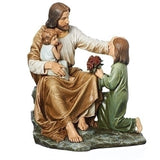 Jesus With Children Statue 14""