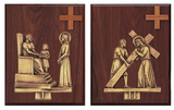 Gold Stations of the Cross - K379