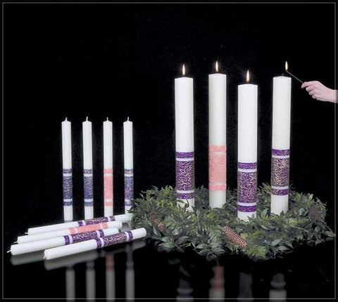 Artisan Wax Advent Candles
