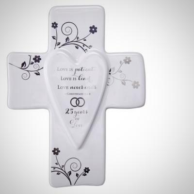 25 Anniversary Wall Cross