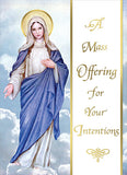 For Your Intentions Mass Card  ME 734