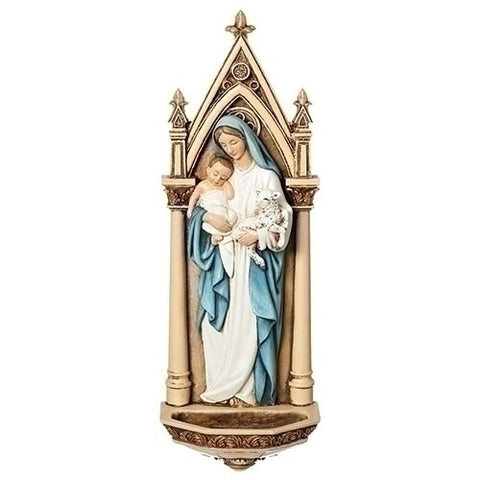 Madonna & Child Holy Water Font