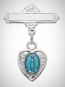 Baby Blue Miraculous Medal Pin