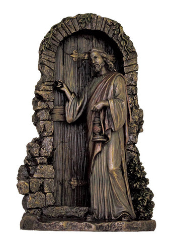 Christ Knocking Statue