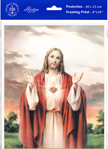 "Sacred Heart of Jesus 8 x 10"" Picture"