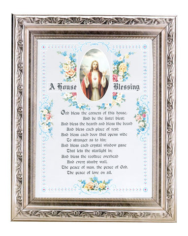 House Blessing In Silver Frame