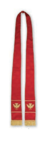 Maltese Cross Jacquard Stole (Red)