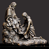 Christ Washing Peter's Feet - Statue By Timothy P. Schmalz