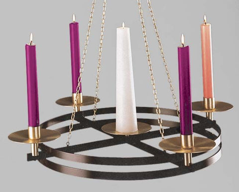 Advent Hanging Wreath Style 3904